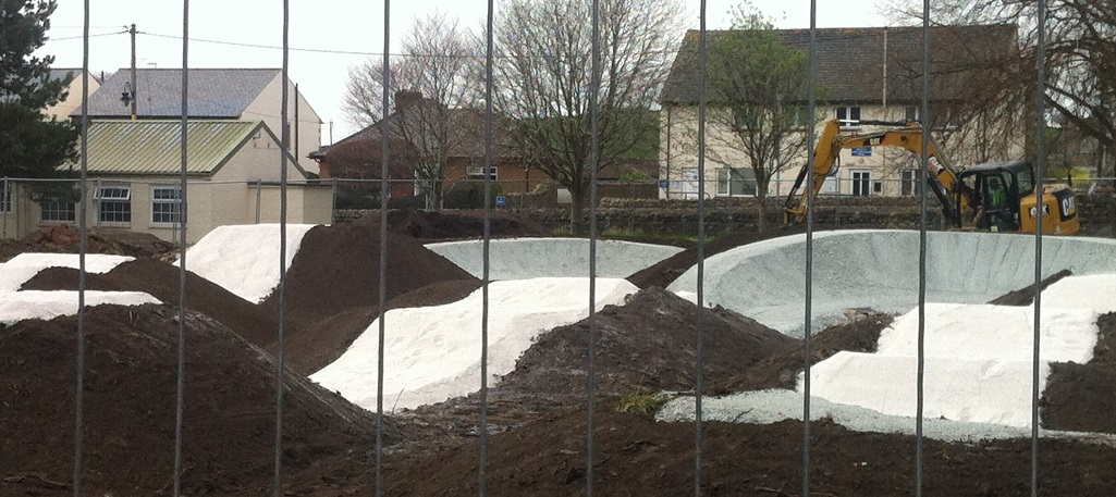 Ingleton's New Pumptrack takes shape
